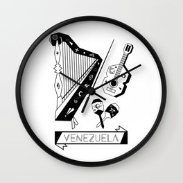 Venezuelan Tipical Music Instruments Wall Clock