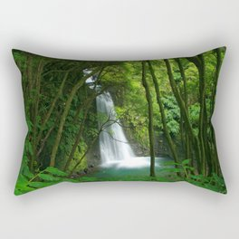 Waterfall in the Azores Rectangular Pillow