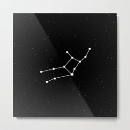 Virgo Astrology Star Sign Night Sky Metal Print