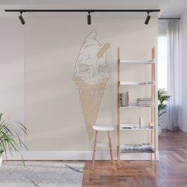 Ice cream skull light Wall Mural