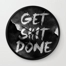 Motivational get it done Wall Clock