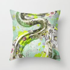 Garden Snake Commons Throw Pillow
