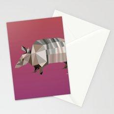 Geometric Armadillo Stationery Cards