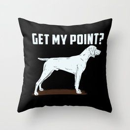 German Shorthair Pointer Hunting Hunter Gundog Throw Pillow