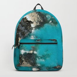 Turquoise & Gold Backpack