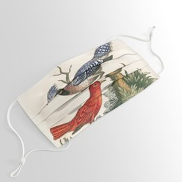 Bluejay and summer red-bird by George Edwards, 1758 (benefiting The Nature Conservancy) Face Mask