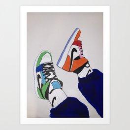 Sneaker Colorful Air Jordan 1's Art Print