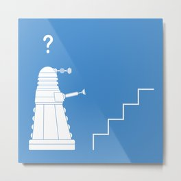 The problem with Daleks. Metal Print