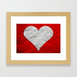 Heart Texture Framed Art Print