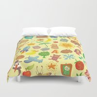 be happy Duvet Covers featuring Happy by Vladimir Stankovic