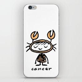 crabby cancer cutie pie iPhone Skin