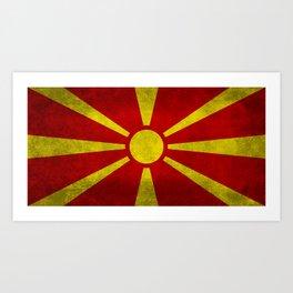 Flag of Macedonia in Super Grunge Art Print