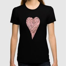 Heart, love, Valentine's Day Womens Fitted Tee Black SMALL