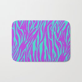 Purple and Green Zebra print Bath Mat