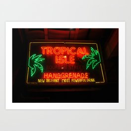 Neon New Orleans Art Print