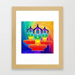 TRIPLE Om Meditation Mantra Chanting DESIGN Framed Art Print