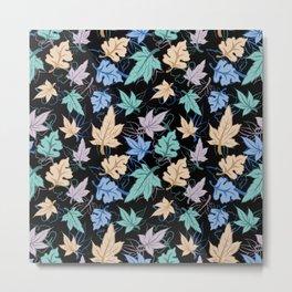 fun fall pattern Metal Print