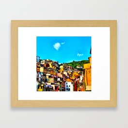 Colorful Buildings in Cinque Terre Framed Art Print