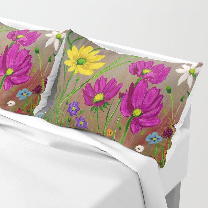 Spring Wild flowers  Pillow Sham
