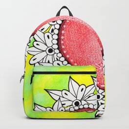 Watercolor Doodle Art | Heart Backpack
