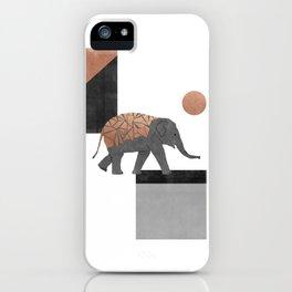 Elephant Mosaic I, Geometric Animal iPhone Case