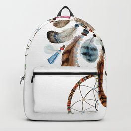 Flowers & tribal feathers dreamcatcher Backpack