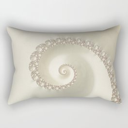 Fantastic Fractal Champagne Color Rectangular Pillow