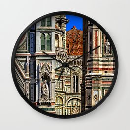 Renaissance Architecture in Florence Wall Clock