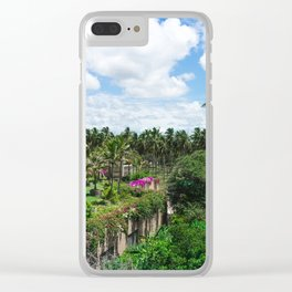 Sri Lankan Gardens Clear iPhone Case