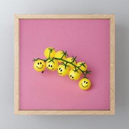 Tomatoes make me happy! Framed Mini Art Print