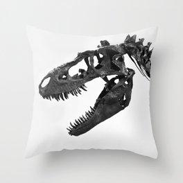 Tyrannosaurus Rex Skeleton Throw Pillow