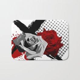 Trash Polka Roses Bath Mat