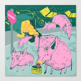 Pigggies Canvas Print
