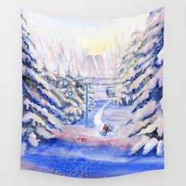 Winter Fun Wall Tapestry