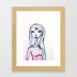 I am nothing Framed Art Print