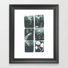 the meeting Framed Art Print
