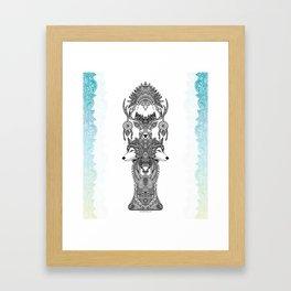Indian Totem Framed Art Print