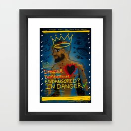 King (Black Lives Matter) Framed Art Print
