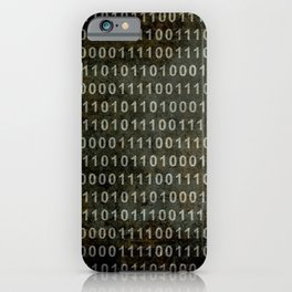 The Binary Code - Distressed textured version iPhone Case