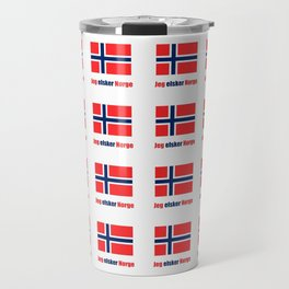 flag of norway 6  snow,scandinavia,scandinavian,norwegian,oslo Travel Mug