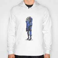 mass effect Hoodies featuring Mass Effect - Garrus Vakarian by SuperPixelTime!