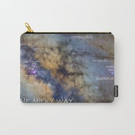 Star map version: The Milky Way and constellations Scorpius, Sagittarius and the star Antares. Carry-All Pouch