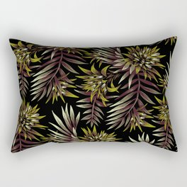 Aechmea Fasciata - Dark Green / Brown Rectangular Pillow
