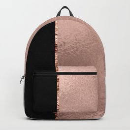 Rose metallic striping - marble and onyx Backpack