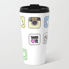 iPhone Icons Travel Mug