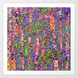 Purple Chaos Art Print