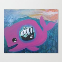 whale of a tale Canvas Print