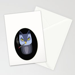 smoking owl Stationery Cards