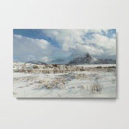 The Land of snow Metal Print