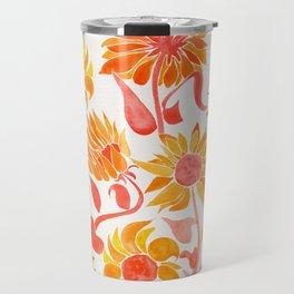 Sunflower Watercolor – Fiery Palette Travel Mug